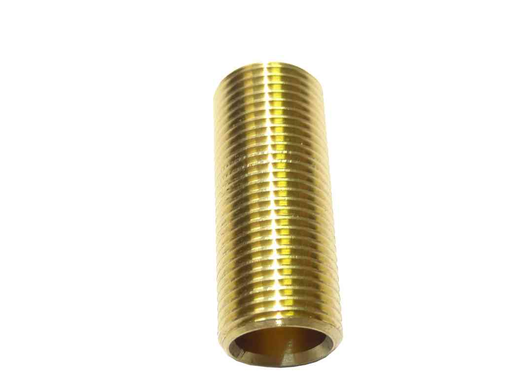 1/2 Inch BSP x 2 Inch Long Brass Running Nipple | Stevenson Plumbing & Electrical Supplies