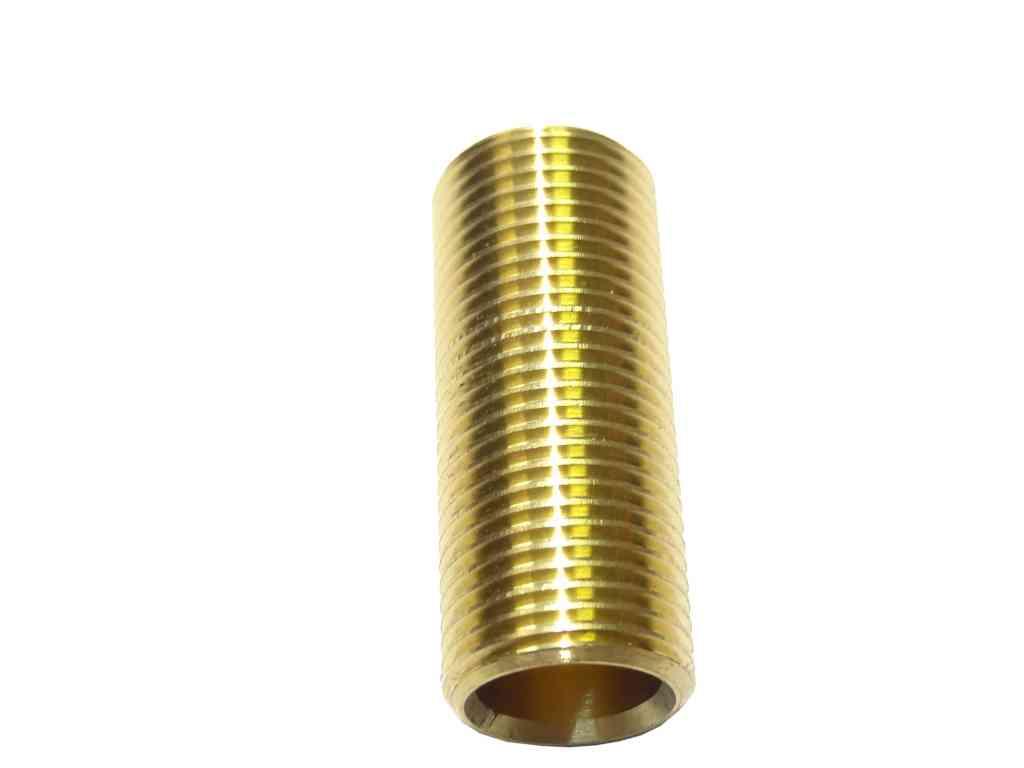Inch bsp long brass running nipple british