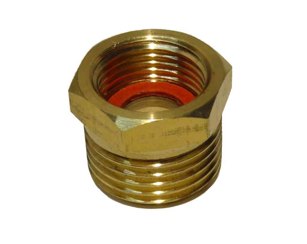 1/2 Inch x 3/8 Inch BSP Brass Adaptor