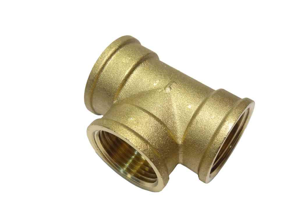 Inch bsp brass equal tee british standard pipe thread