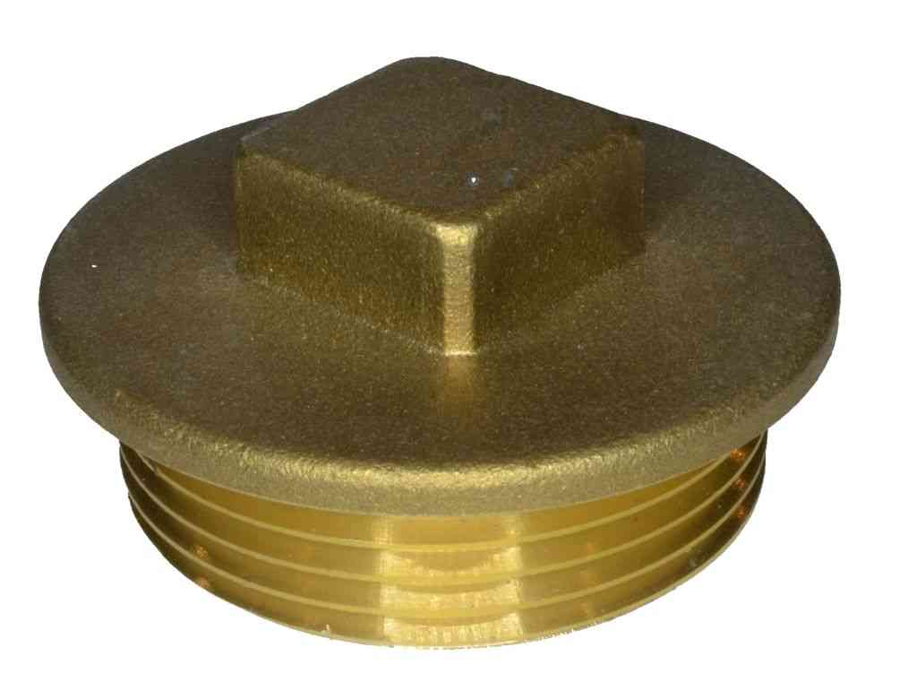 1-1/4 Inch BSP Brass Flanged Plug