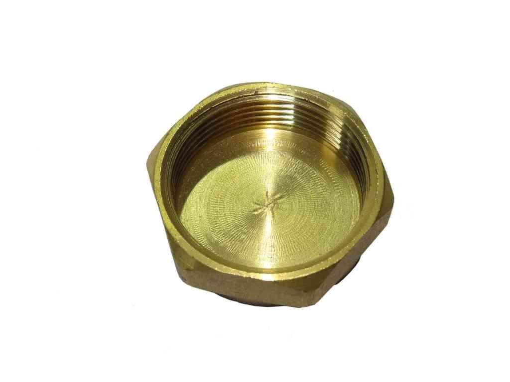 1-1/2 Inch BSP Brass Cap / Blank Nut