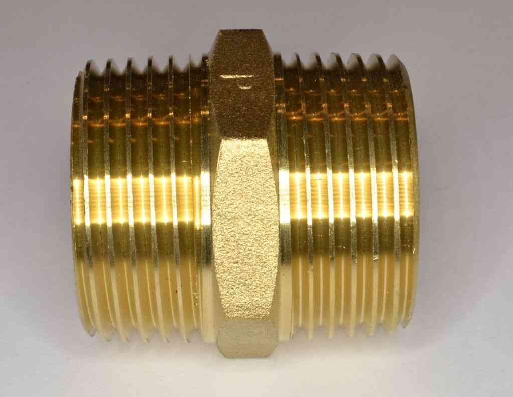 Inch bsp brass hex nipple stevenson plumbing
