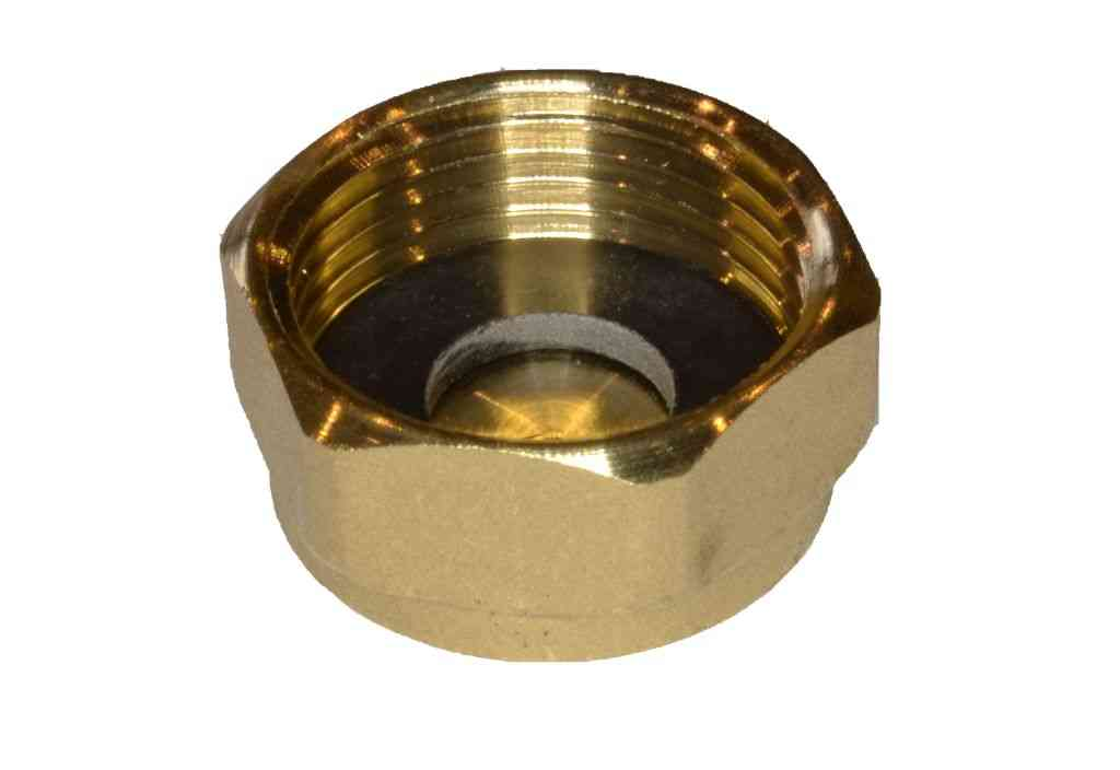 3 4 Quot Bsp Brass Cap Blank Nut With Washer Stevenson