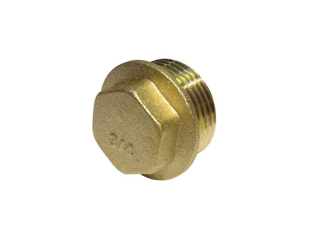 Inch bsp brass flanged plug stevenson plumbing