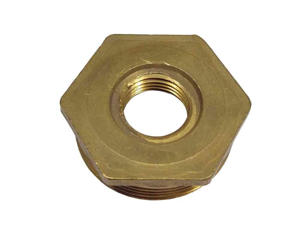 1-1/2 Inch x 1/2 Inch BSP Brass Hex Bush