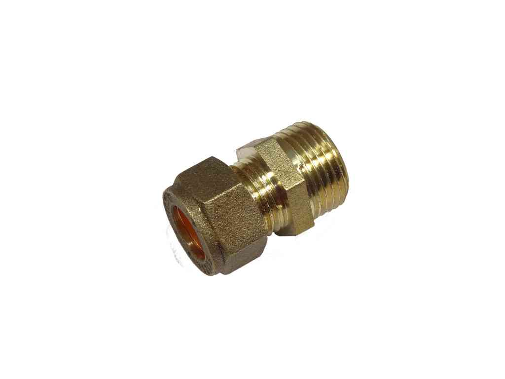 10mm Compression x 3/8 Inch BSP Male Adaptor