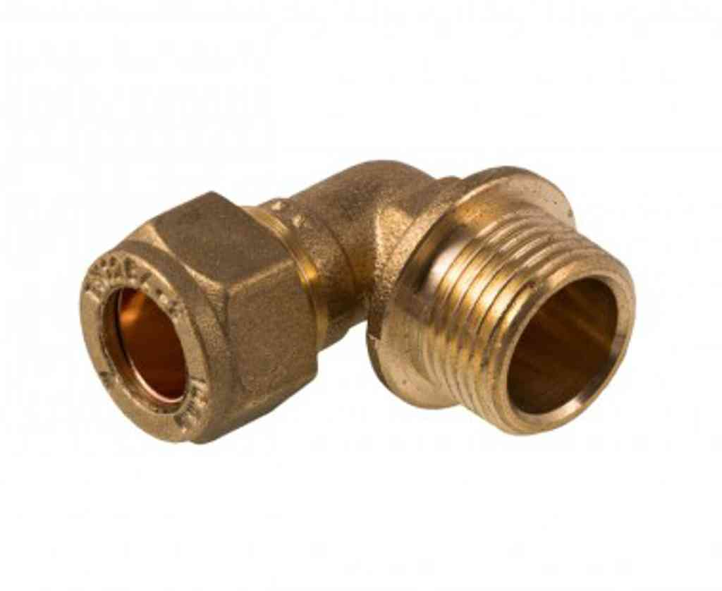 Mm compression inch bsp male elbow brass