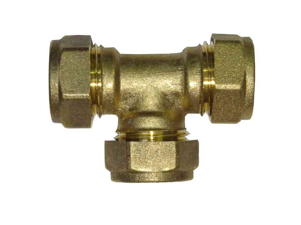 Mm compression equal tee brass plumbing fittting ebay