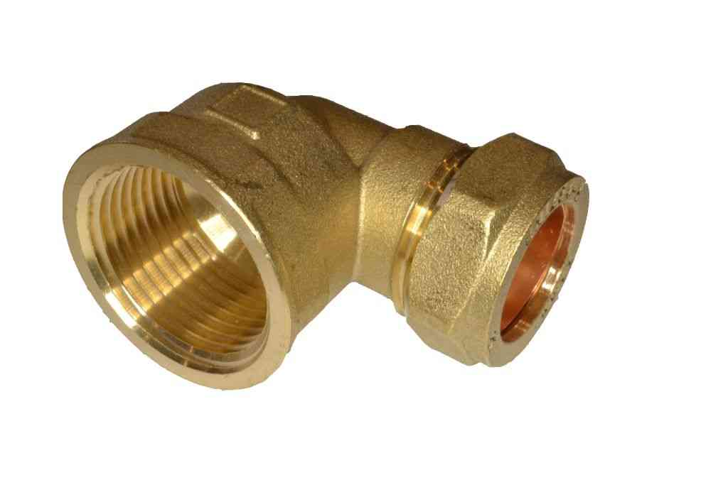 """Cold Solder Joint >> 22mm Compression x 1"""" BSP Female Elbow 