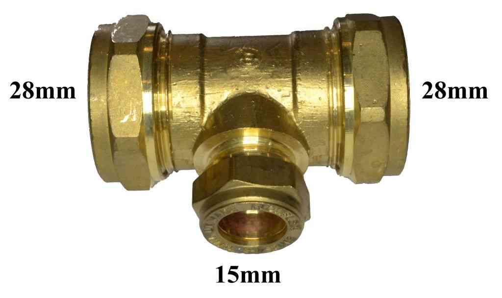 28mm X 28mm X 15mm Compression Reducing Tee Stevenson
