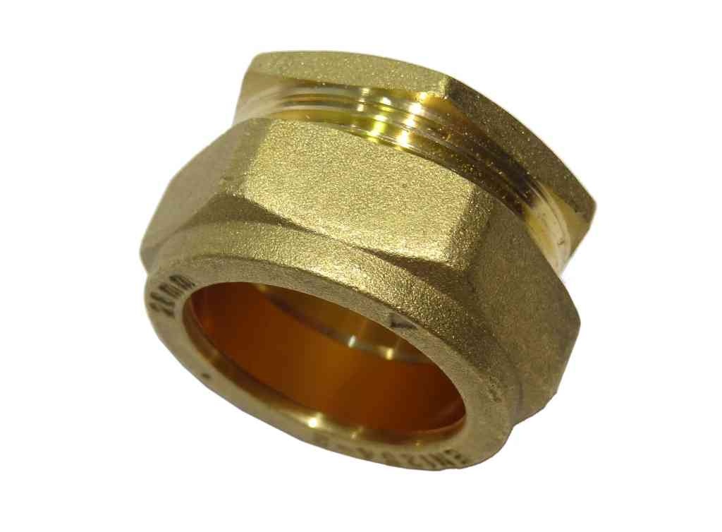 Mm compression stop end blanking cap brass plumbing