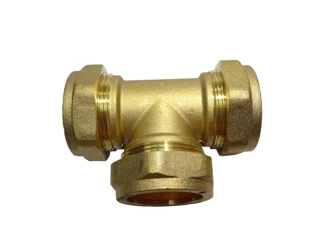 Mm compression equal tee stevenson plumbing