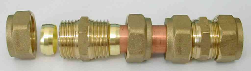 Compression plumbing fittings stevenson plumbing for Copper pipe to plastic pipe