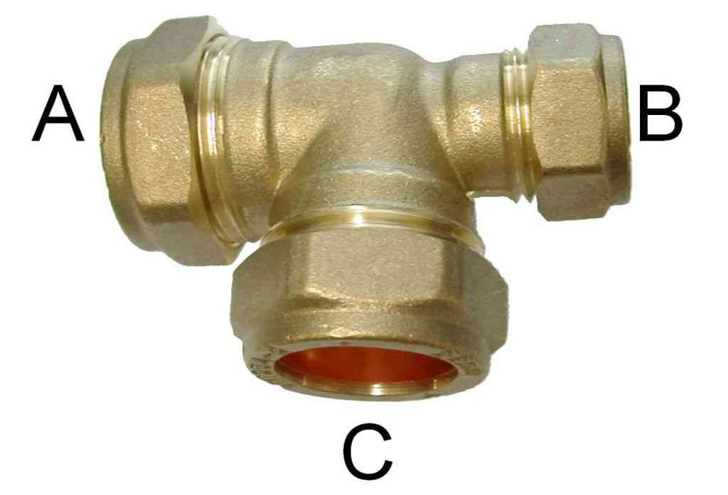 Compression tee fittings equal and reducing stevenson