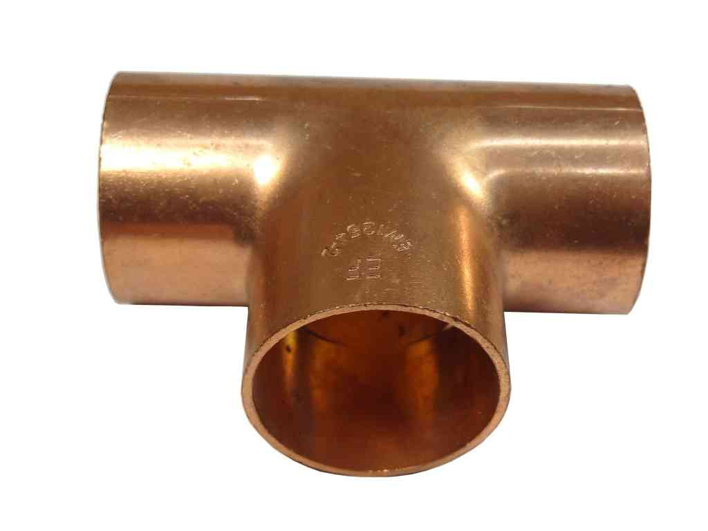 28mm end feed equal tee fitting for copper pipe ebay. Black Bedroom Furniture Sets. Home Design Ideas