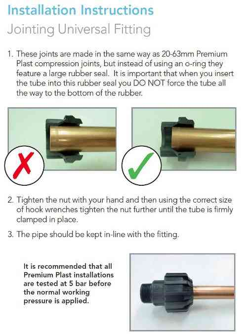 Universal coupler instructions