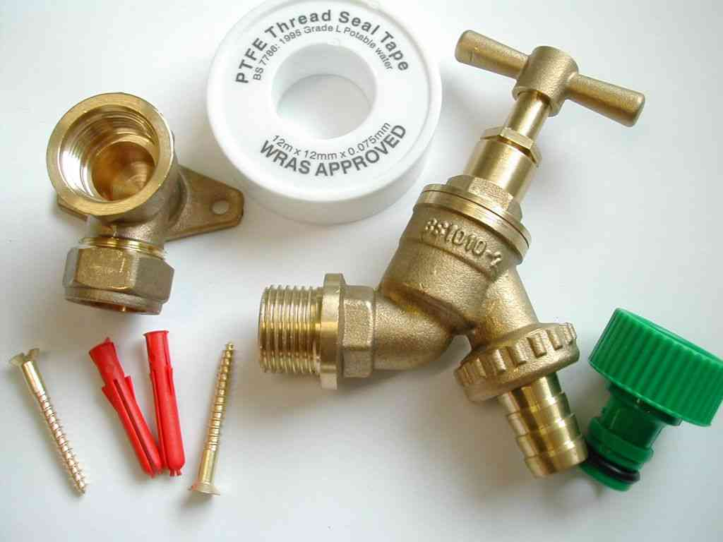 Outdoor Outside Tap Kit Garden Hose Fitting Mounting