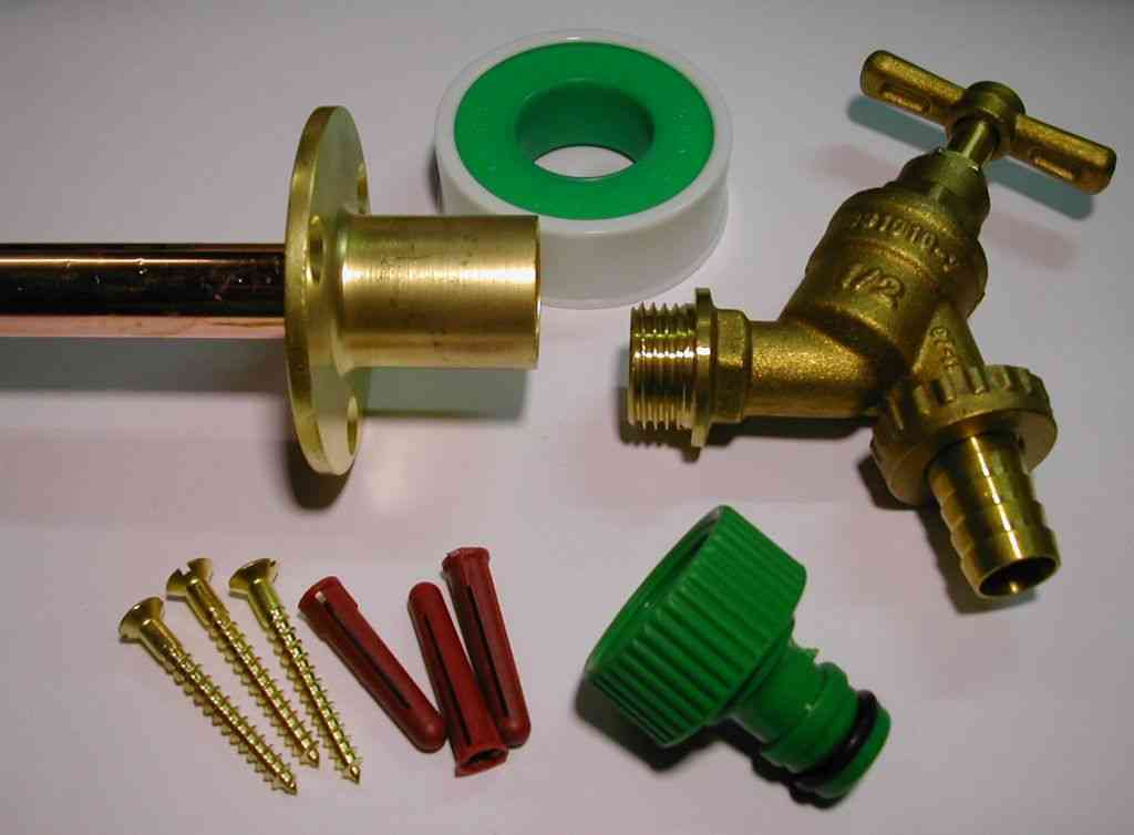Outside Tap Kit With Through Wall Back Plate Flange