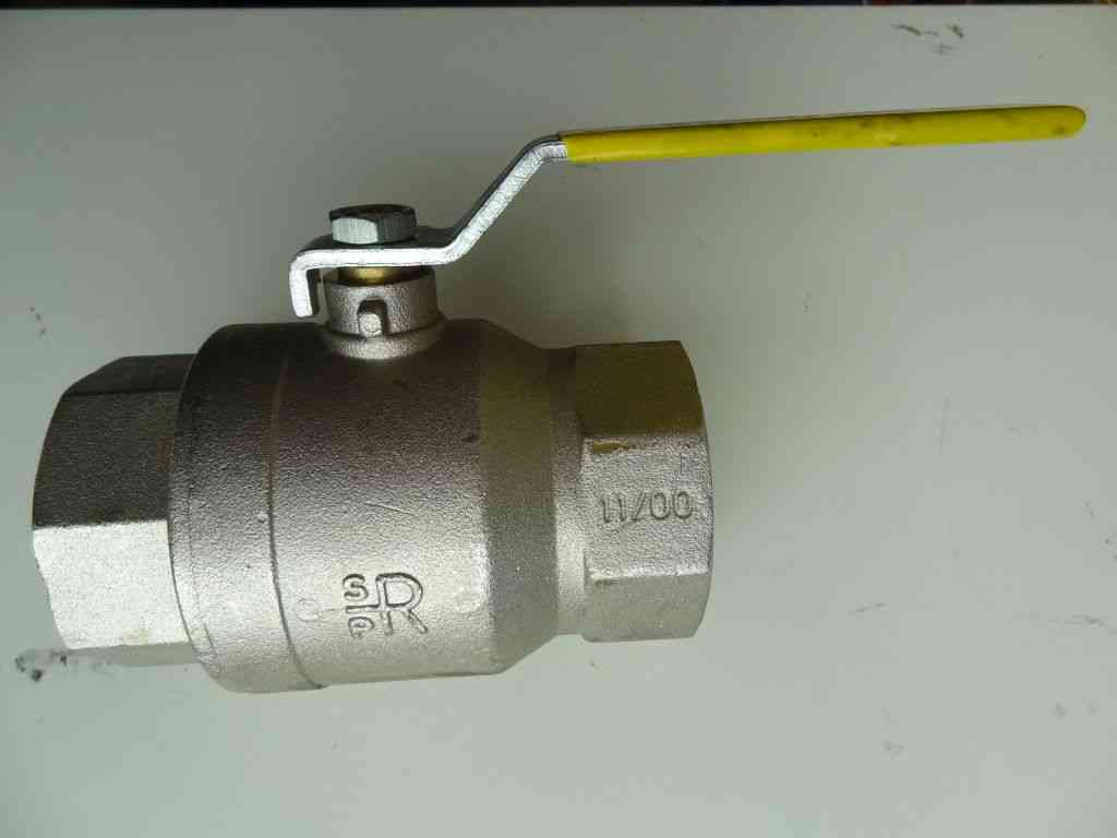 1-1/4 Inch BSP Lever Ball Valve | FxF | Yellow Handle