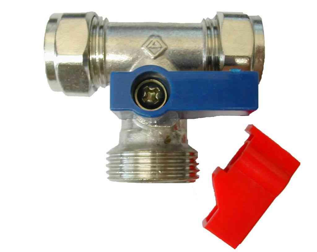 Mm inch washing machine tee tap valve ebay