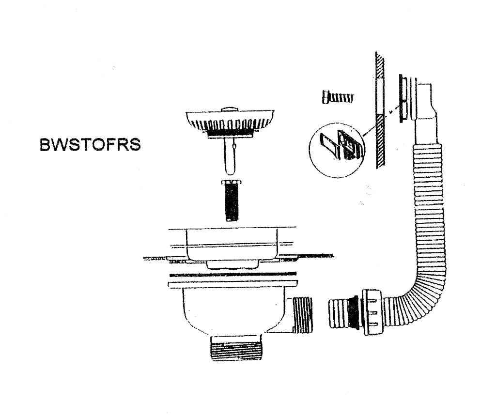 Mcalpine Bwstofrs Basket Strainer Kitchen Sink Waste With