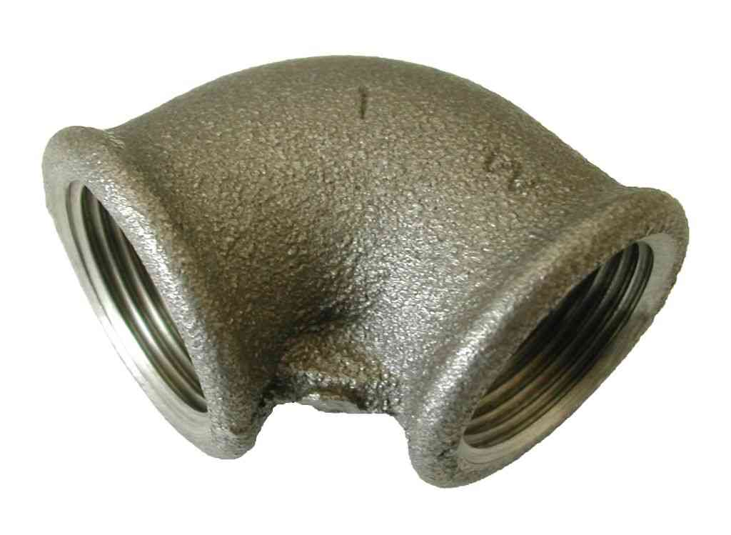 1 Inch BSP Black Iron Elbow | FxF Female x Female