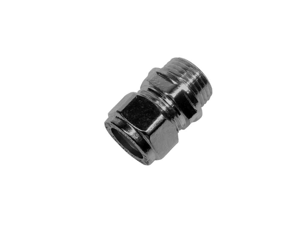 Chrome Plated 15mm Compression x 1/2 Inch BSP Male Adaptor