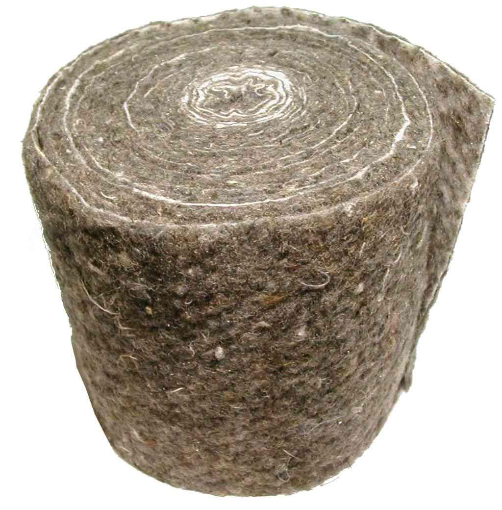 Pipe Insulation Lagging Wool Felt Wrap 7 Metre Long Roll