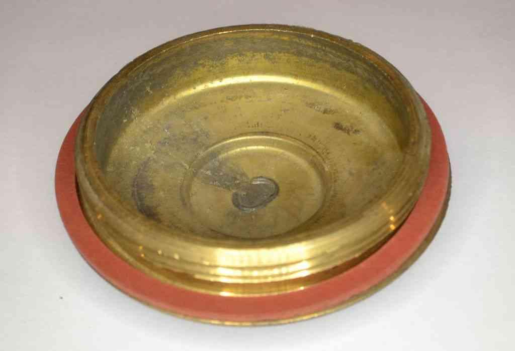 Brass Immersion Heater Plug  U0026 Washer