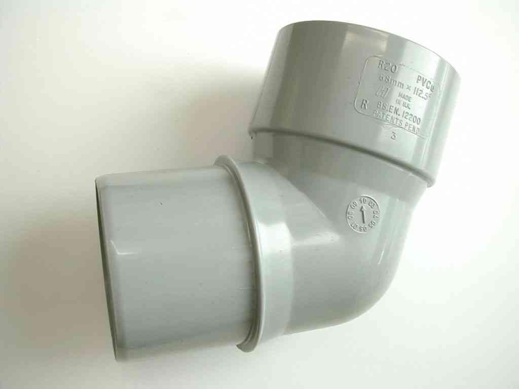 68mm Rainwater Downpipe 112.5 Degree Elbow