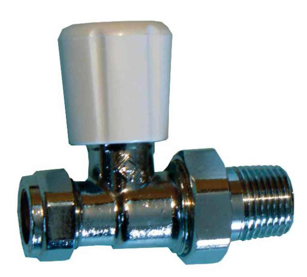 Radiator Valve 15mm Straight   Union Type