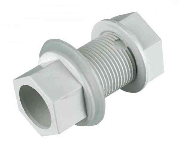 Overflow Tank Connector 21.5mm Solvent Weld PVC-U