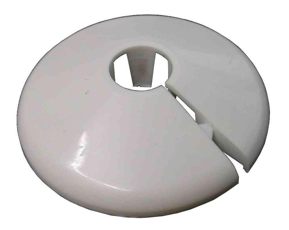 10mm White Radiator Pipe Cover / Collar