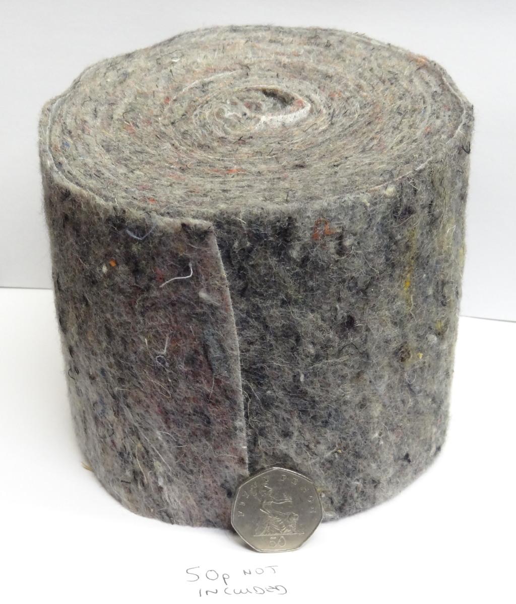 Pipe Insulation Lagging Wool Felt Wrap 7m Roll