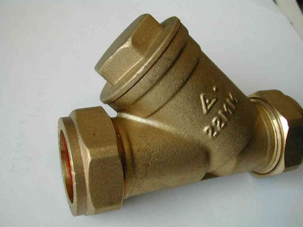 22mm Brass In Line Y Strainer Filter Stevenson