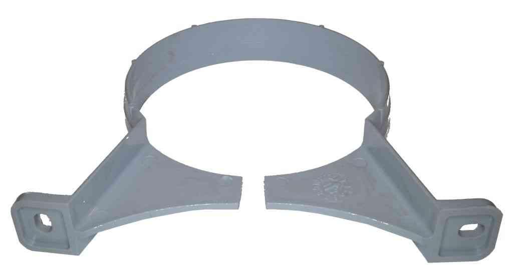 110mm Waste Pipe Clip Grey